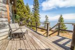 The Lake Superior-facing deck is a great place to enjoy a warm summer`s day.